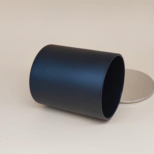 black candle jar